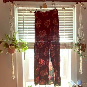 Maxi sunflower skirt